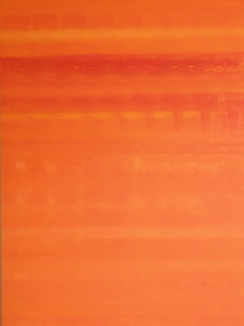 orange 2 : 3x4 ft acrylic on canvas