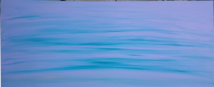 blue wash : 40x16 in acrylic on canvas